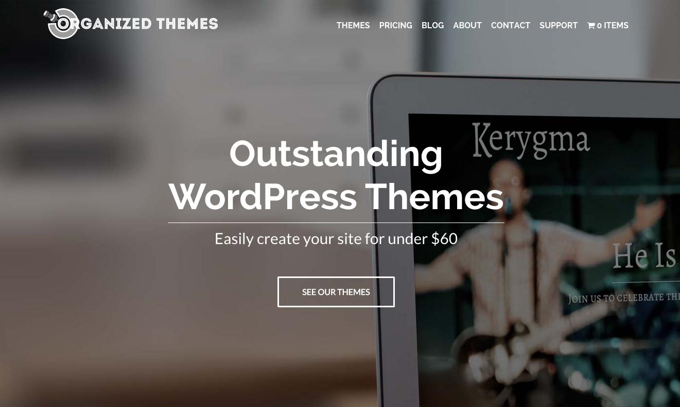Organized Themes website
