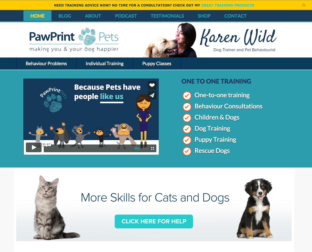 PawPrint Pets website