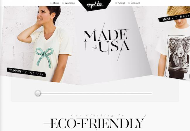 Neopolitan Clothing website