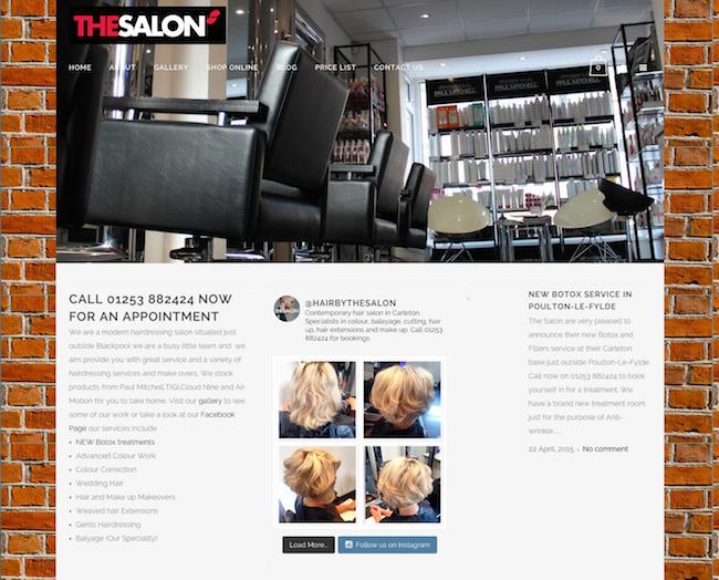 The Salon website