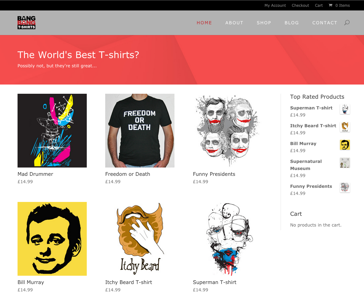Bang Bang T-Shirts website