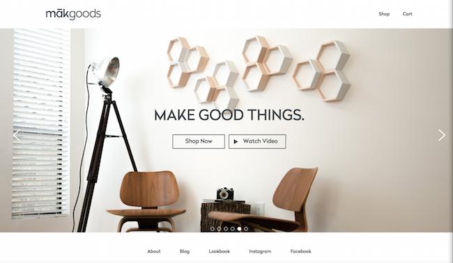 Mak Goods website
