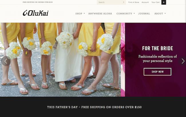 Olukai website