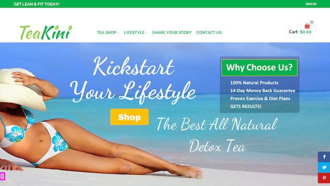 Tea Kini website