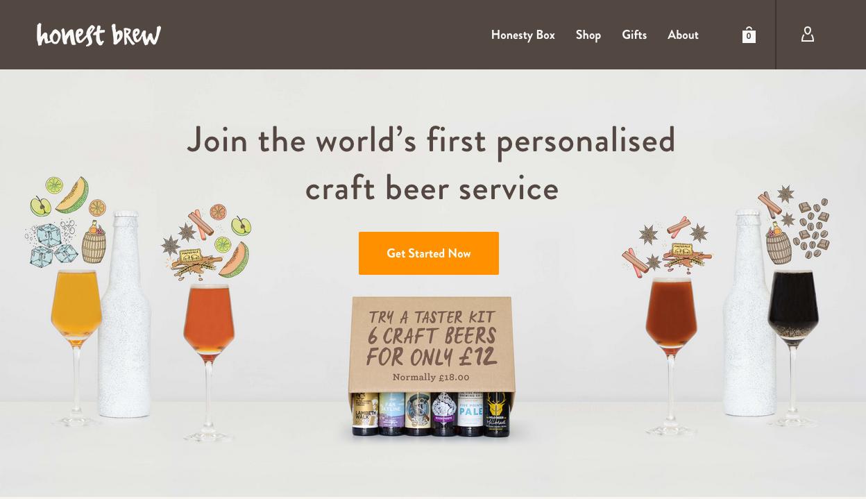Honest Brew website