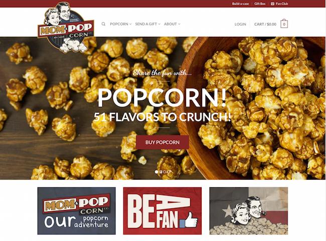 Mom & Pop Corn website