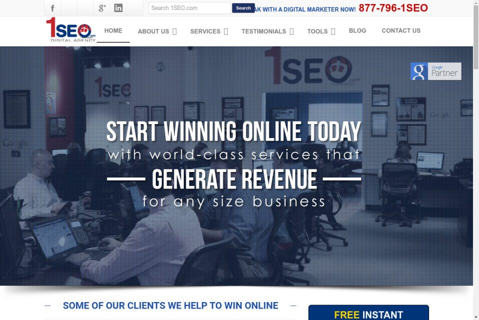 1SEO.com Website