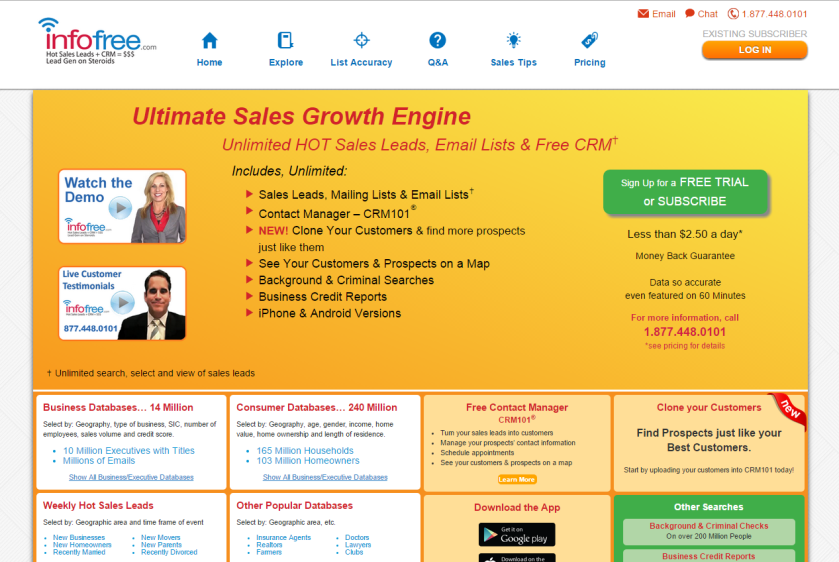 InfoFree Website