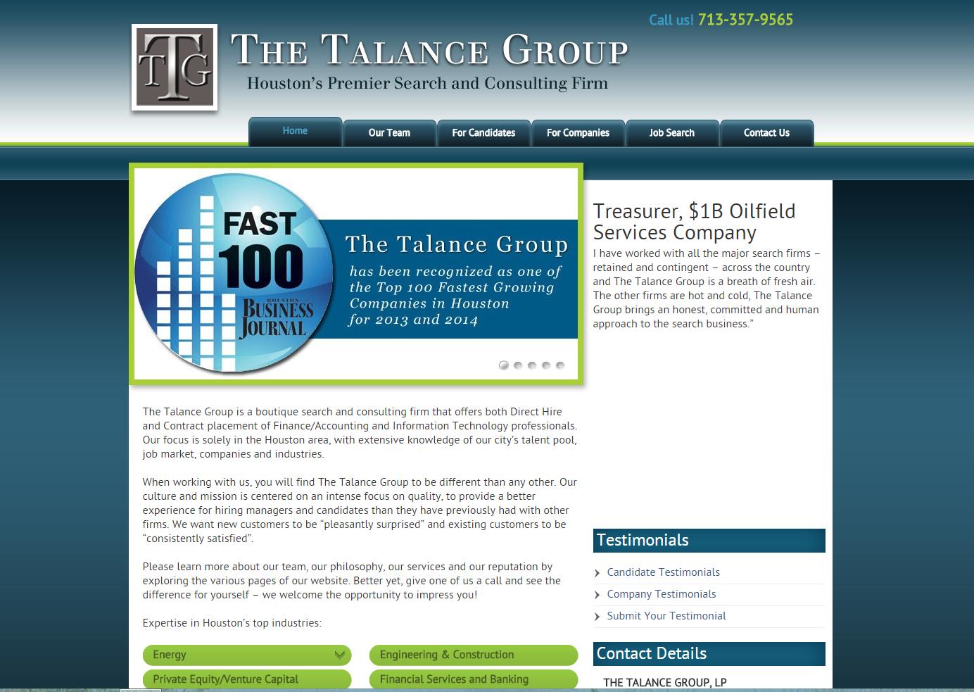 Talance Group Website