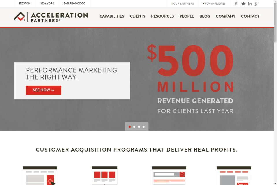 Acceleration Partners Website