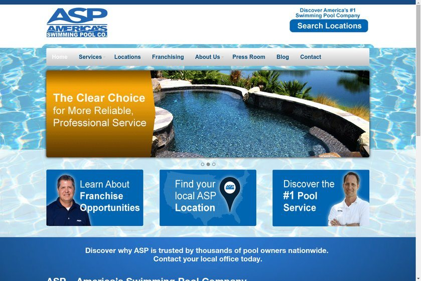 America's Swimming Pool Company Website