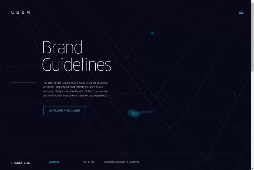 Uber Brand Guidelines Website