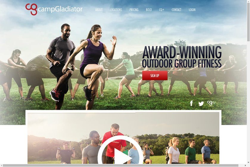 Camp Gladiator Website