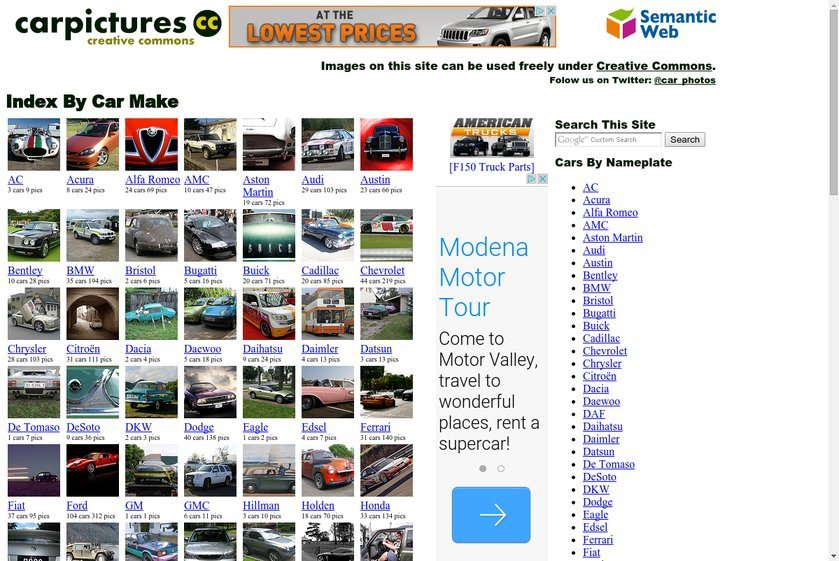 Car Pictures CC Website