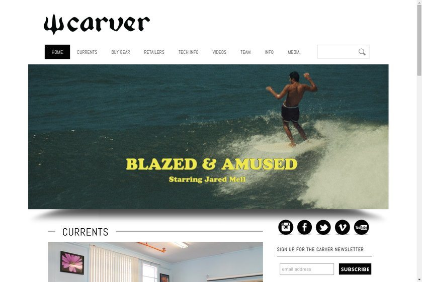 Carver Skateboards Website