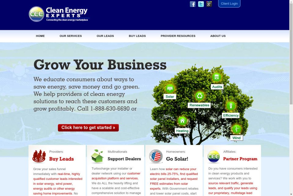 Clean Energy Experts Website