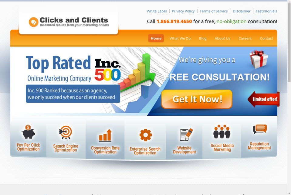 Clicks and Clients Website