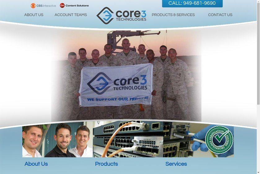 Core 3 Technologies Website