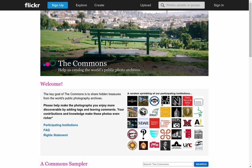 Flickr Commons Website