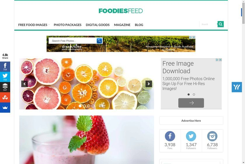 Foodiesfeed Website