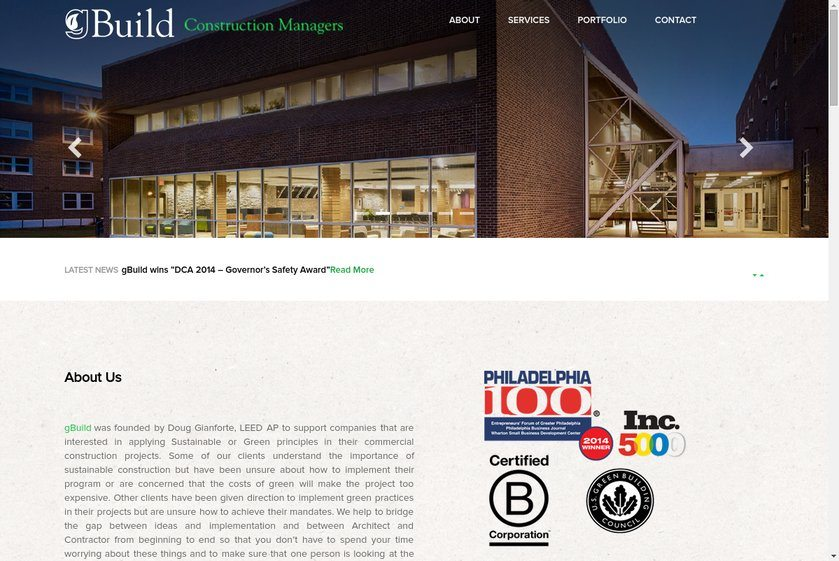 gBuild Construction Managers Website