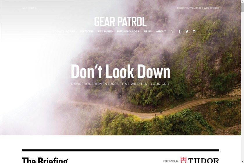Gear Patrol Website
