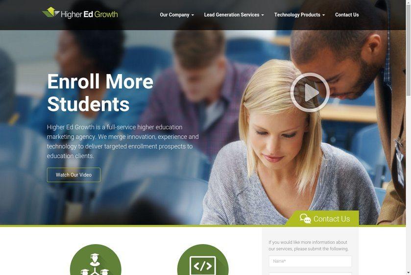 Higher Ed Growth Website