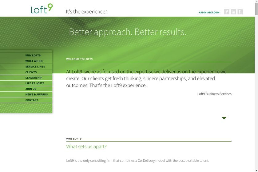Loft9 Consulting Website