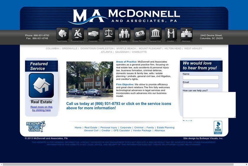 McDonnell and Associates Website