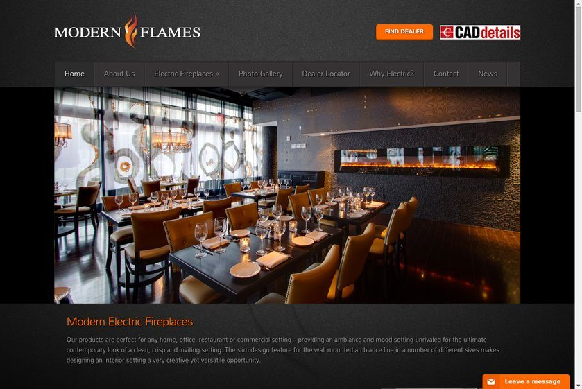Modern Flames Website