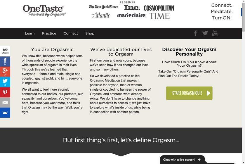 OneTaste Website
