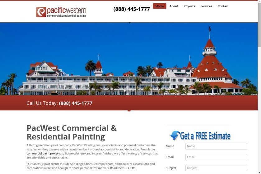 Pacific Western Painting Website