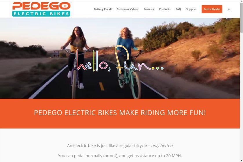 Pedego Electric Bikes Website