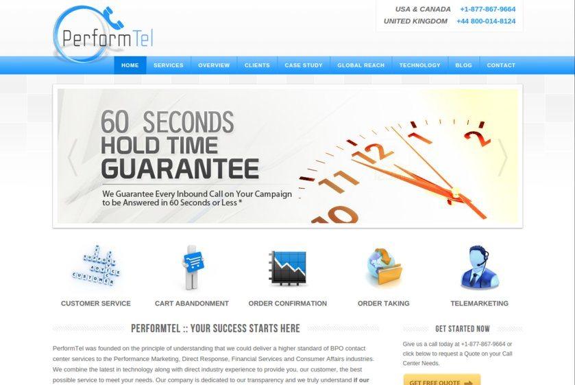Performtel Websites