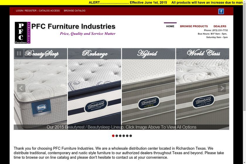 PFC Furniture Industries Website