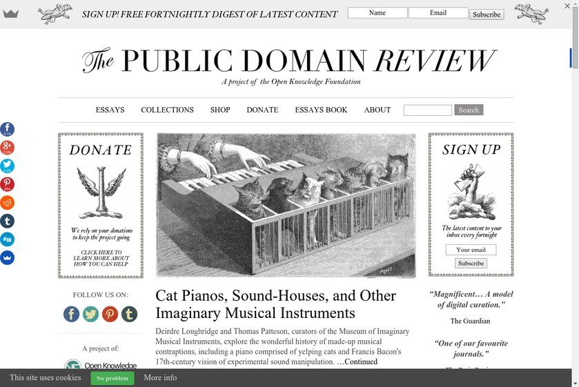 Public Domain Review Website