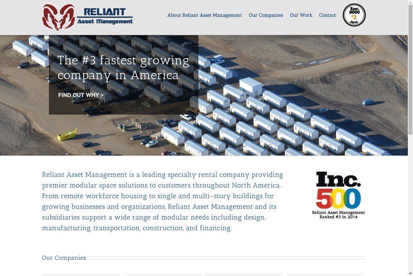 Reliant Asset Management Website