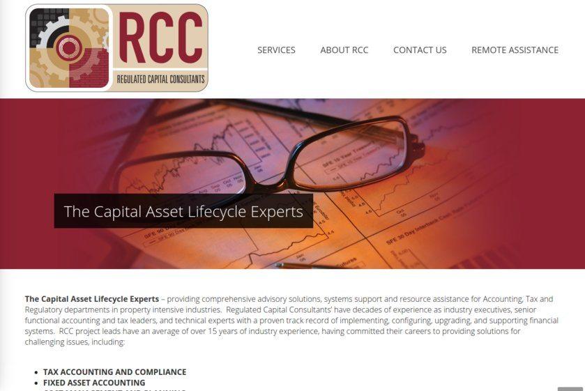 Regulated Capital Consultants Website