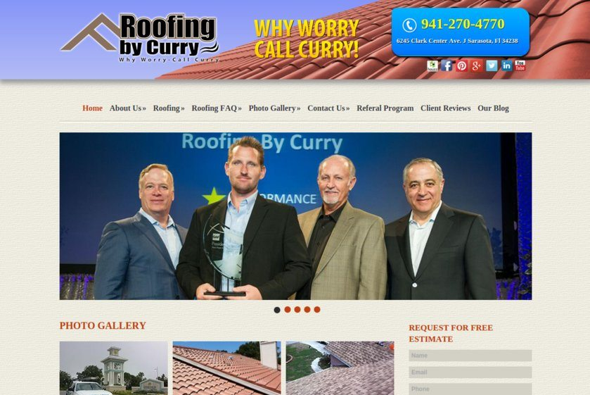 Roofing By Curry Website