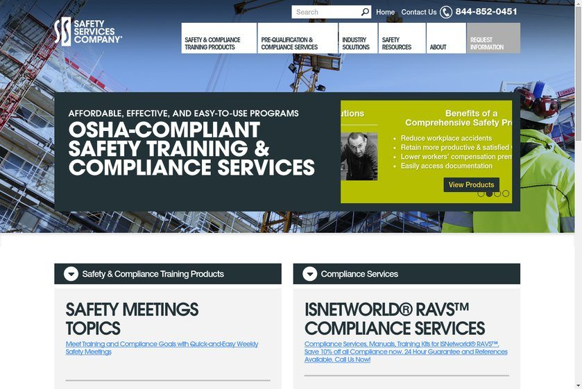 Safety Services Website
