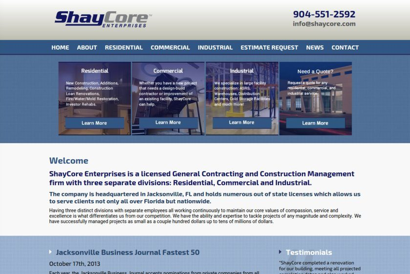 Shay Core Enterprises Website