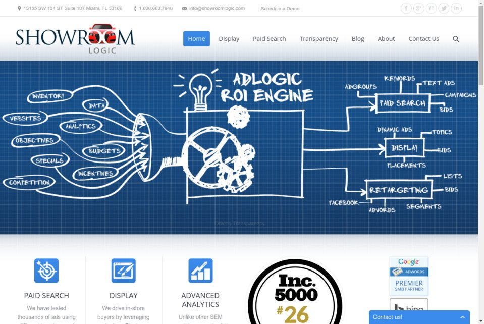 Showroom Logic website