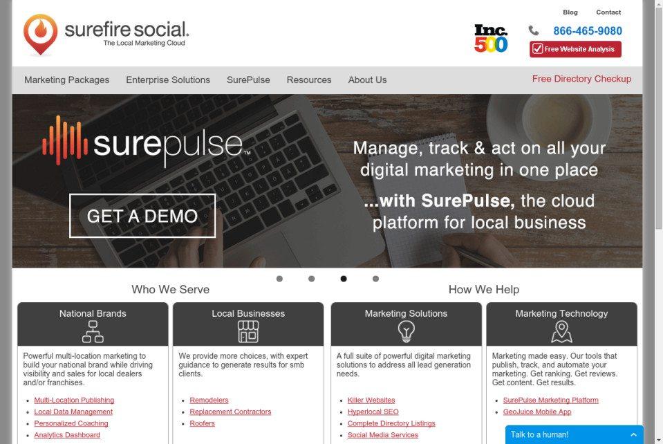 Surefire Social Website