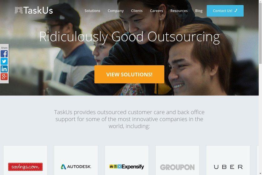 Taskus Website