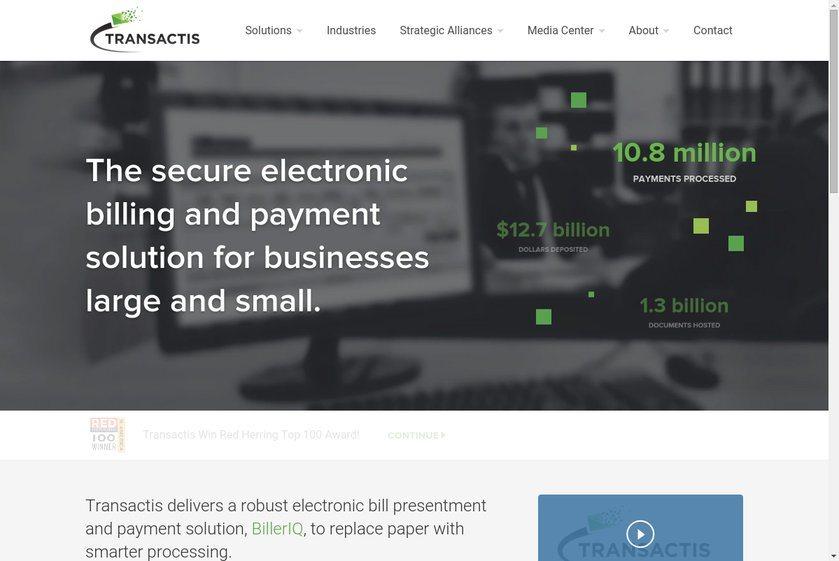 Transactis Website
