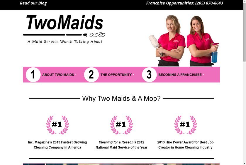 Two Maids and A Mop Website