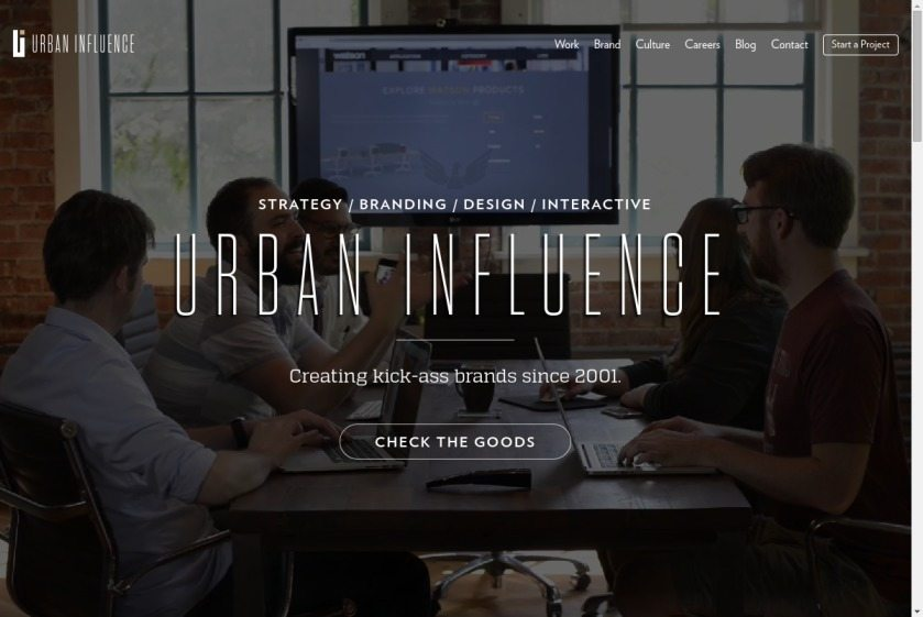 Urban Influence Website