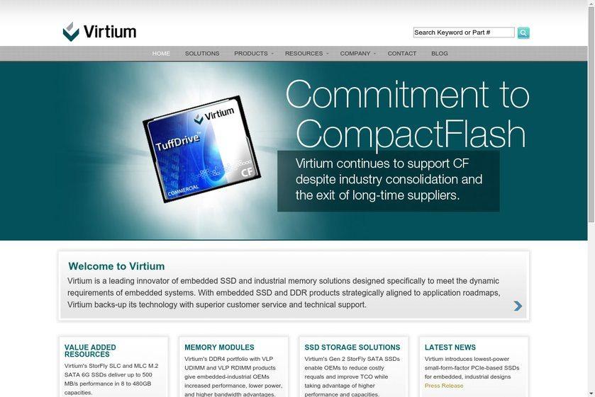Virtium Technologies Website