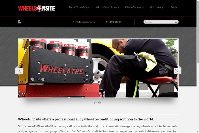 WheeelsOnsite USA Website