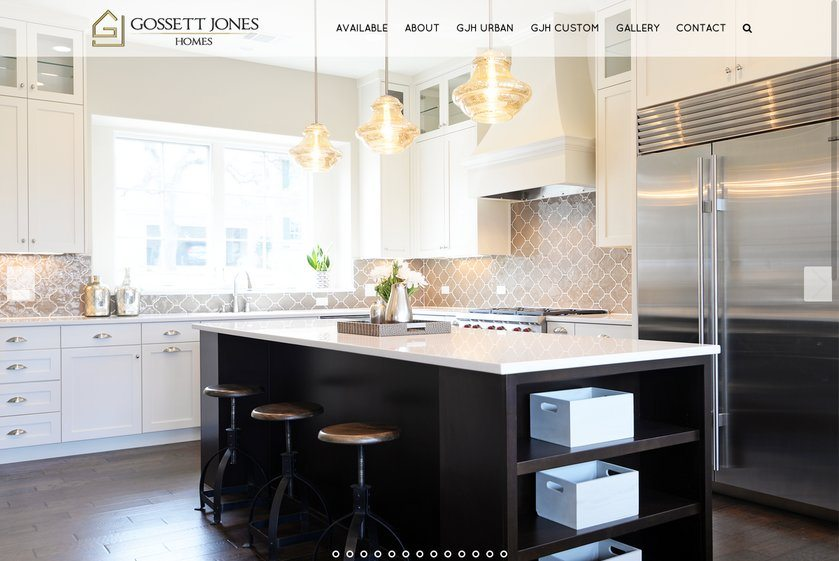 Gossett Jones Homes Website